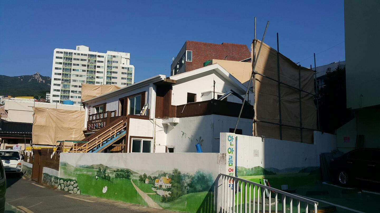 2 번째 사진  에  연면적106 ㎡ 부산시 금정구 범어천로 슬레이트지붕철거 한아름어린이집 석면해체 제거