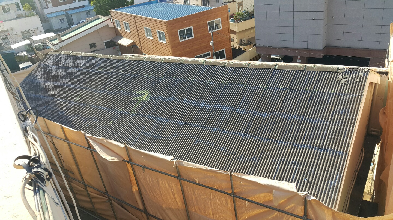 4 번째 사진  에  연면적106 ㎡ 부산시 금정구 범어천로 슬레이트지붕철거 한아름어린이집 석면해체 제거