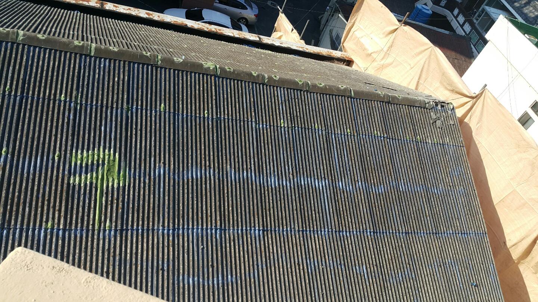 5 번째 사진  에  연면적106 ㎡ 부산시 금정구 범어천로 슬레이트지붕철거 한아름어린이집 석면해체 제거