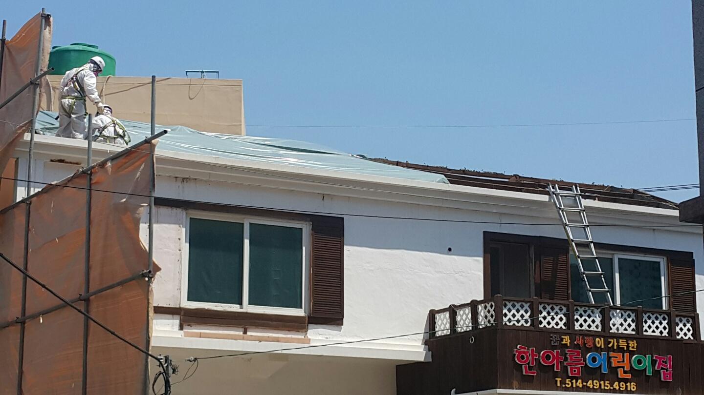 13 번째 사진  에  연면적106 ㎡ 부산시 금정구 범어천로 슬레이트지붕철거 한아름어린이집 석면해체 제거