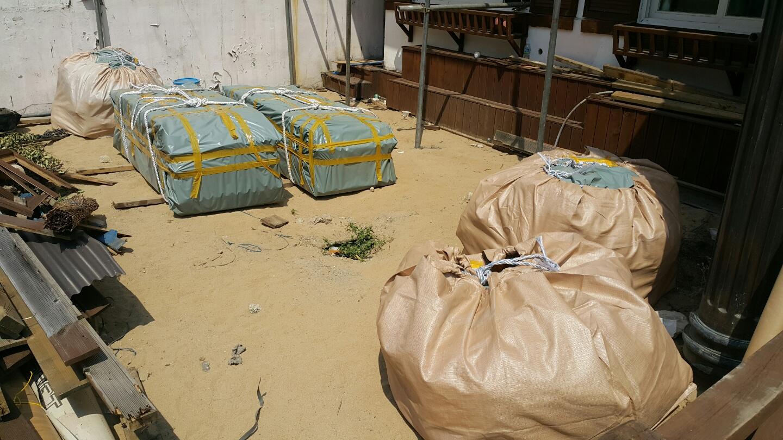 19 번째 사진  에  연면적106 ㎡ 부산시 금정구 범어천로 슬레이트지붕철거 한아름어린이집 석면해체 제거