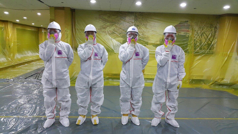 16 번째 사진  에  연면적911.08 ㎡ 장유누가병원 장례식장 내부공사를 위한 석면해체 제거