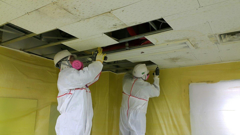 17 번째 사진  에  연면적911.08 ㎡ 장유누가병원 장례식장 내부공사를 위한 석면해체 제거