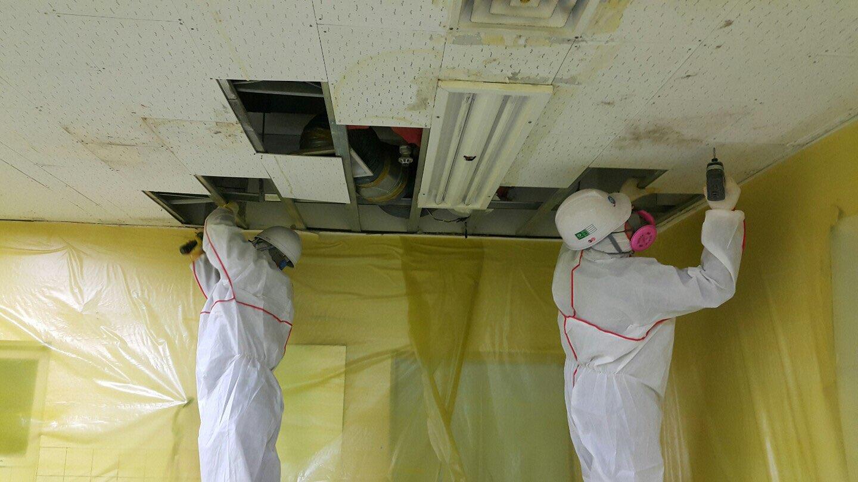 18 번째 사진  에  연면적911.08 ㎡ 장유누가병원 장례식장 내부공사를 위한 석면해체 제거