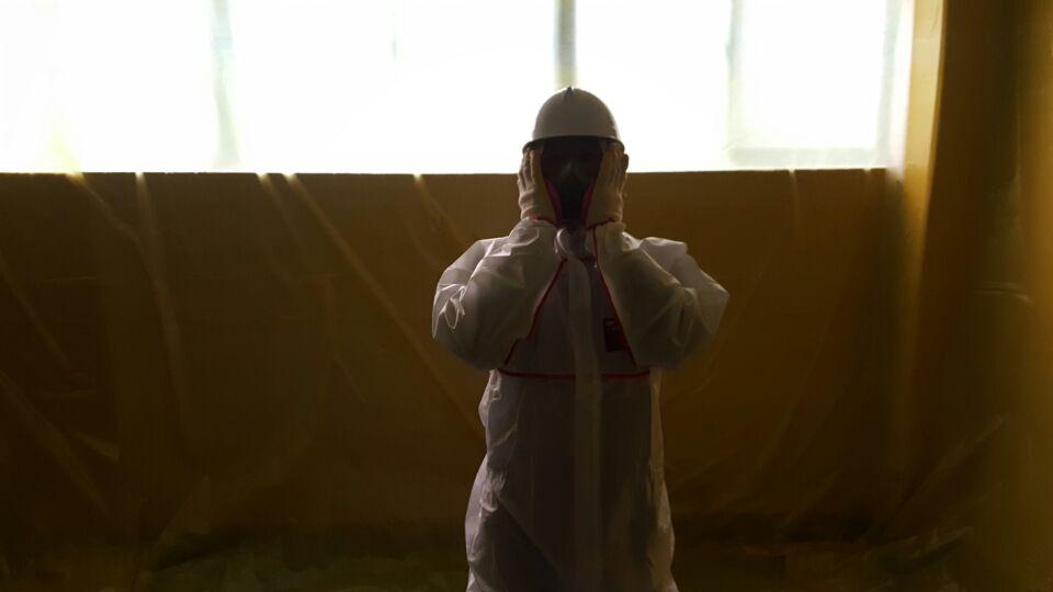 9 번째 사진  에  연면적95 ㎡ 부산광역시 수영구 망미동 부산여자상업고등학교 화장실 보수공사를위한 석면텍스 해체