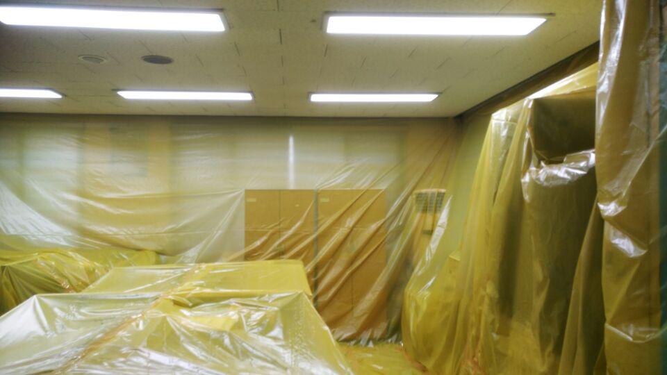 6 번째 사진  에  연면적69.12 ㎡ 경남 부림면 의령119안전센터  텍스 석면철거 현장
