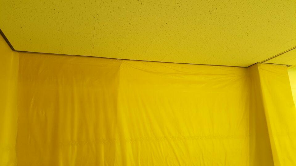 11 번째 사진  에  연면적137.84 ㎡ 울산 울주군 어린이집 겨울방학 천저텍스 석면처리 현장