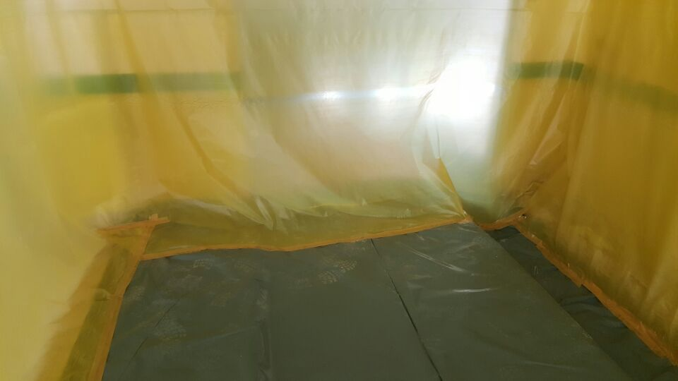 12 번째 사진  에  연면적137.84 ㎡ 울산 울주군 어린이집 겨울방학 천저텍스 석면처리 현장