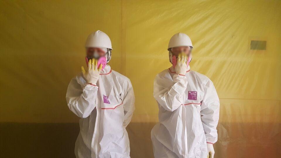 6 번째 사진  에  연면적- ㎡ 포항시 남구 식당 석면해체 제거현장