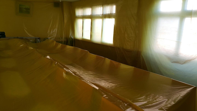 7 번째 사진  에  연면적63.28 ㎡ 부산시 서부교육청 구내식당 석면텍스철거