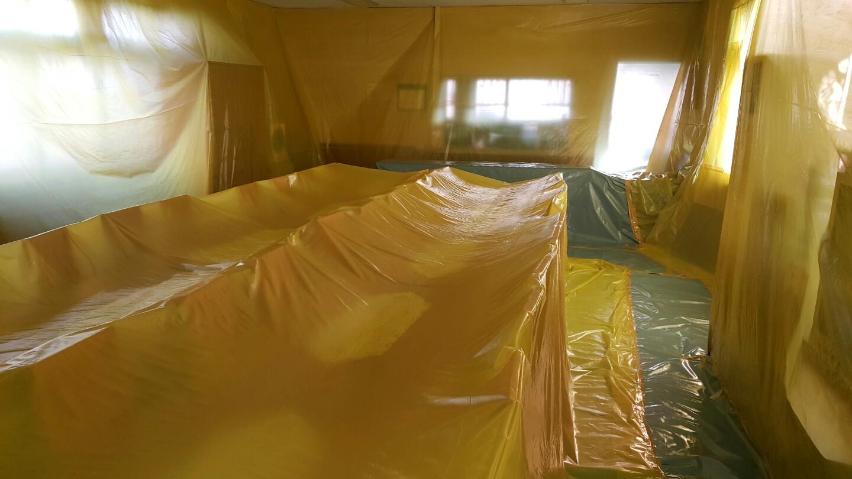 9 번째 사진  에  연면적63.28 ㎡ 부산시 서부교육청 구내식당 석면텍스철거