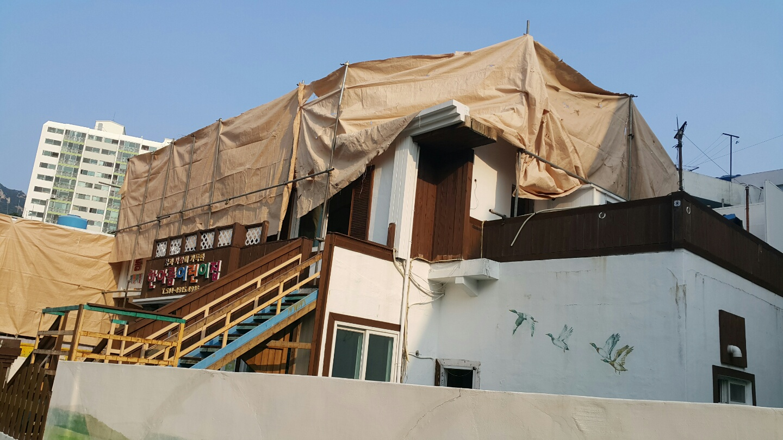 6 번째 사진  에  연면적106 ㎡ 부산시 금정구 범어천로 슬레이트지붕철거 한아름어린이집 석면해체 제거