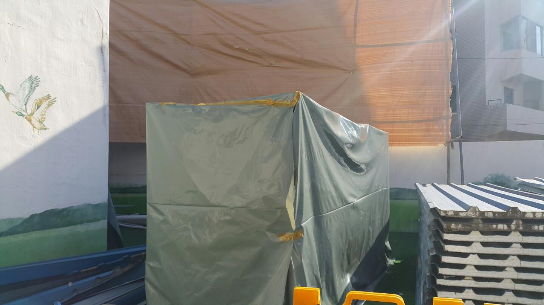 11 번째 사진  에  연면적106 ㎡ 부산시 금정구 범어천로 슬레이트지붕철거 한아름어린이집 석면해체 제거