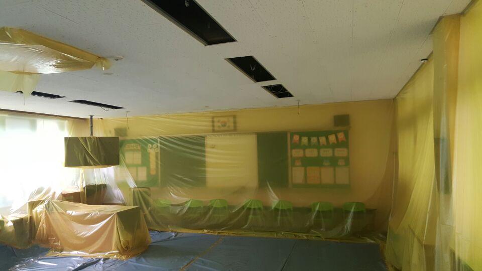 8 번째 사진  에  연면적7323.68 ㎡ 부산광역시 해운대구 반송동 송운초등학교 석면텍스해체 보고서
