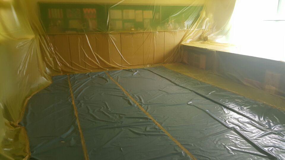 9 번째 사진  에  연면적621.02 ㎡ 부산시 사하구 괴정동 동주중학교 5층 일부 석면해체제거 석면철거현장