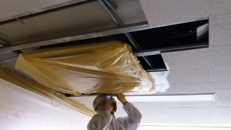 16 번째 사진  에  연면적129.6 ㎡ 부산시 연제구 거제초등학교 냉난방교체에 따른 석면텍스철거공사