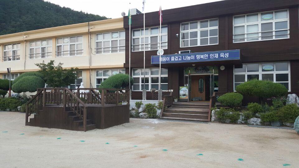 1 번째 사진  에  연면적404.4 ㎡ 경북 청송군 청송이전초등학교 석면텍스해체 제거 현장