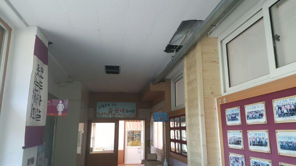 5 번째 사진  에  연면적404.4 ㎡ 경북 청송군 청송이전초등학교 석면텍스해체 제거 현장