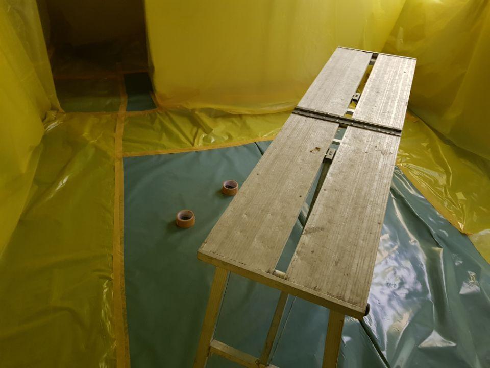 6 번째 사진  에  연면적125.11 ㎡ 부산시 사상구 주례로 천정텍스 석면해체 제거