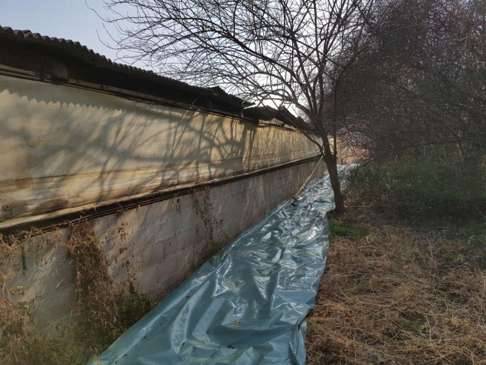 4 번째 사진  에  연면적787 ㎡ 경북 영천시 대창면 명성농장 슬레이트지붕 석면철거