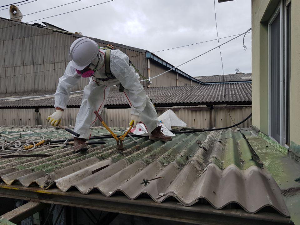 10 번째 사진  에  연면적185.82 ㎡ 부산시 사하구 다대동 공장지붕 석면철거