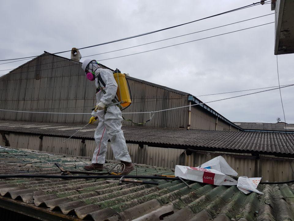 11 번째 사진  에  연면적185.82 ㎡ 부산시 사하구 다대동 공장지붕 석면철거