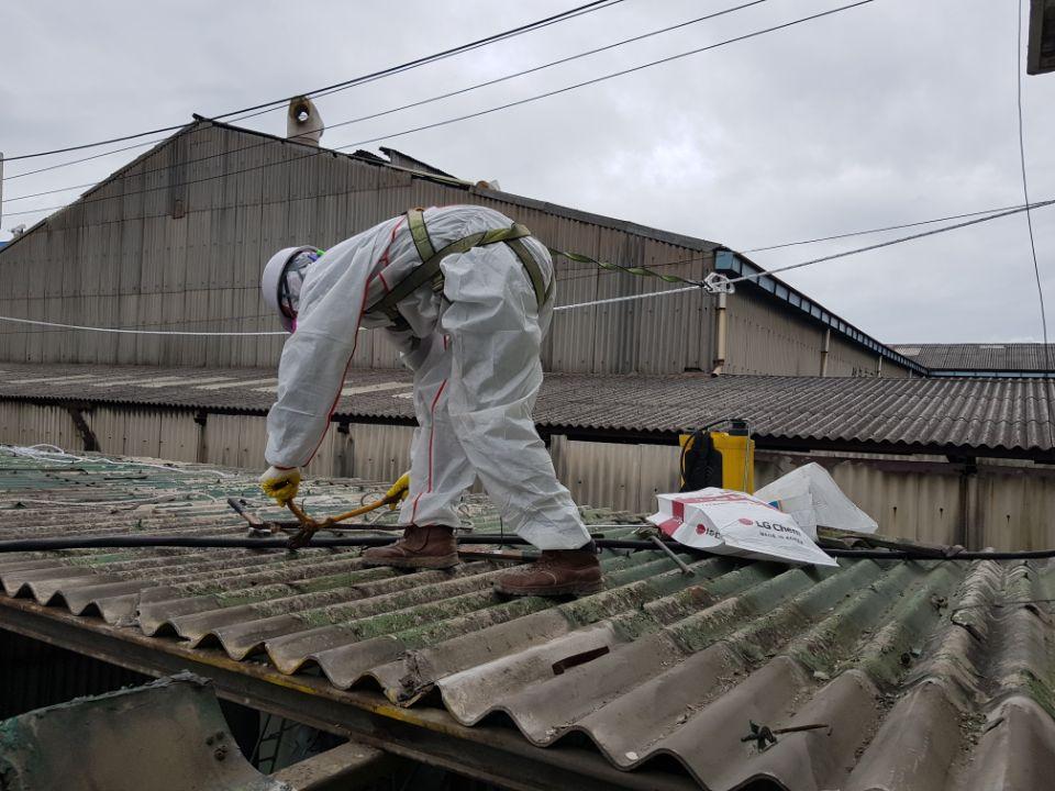 14 번째 사진  에  연면적185.82 ㎡ 부산시 사하구 다대동 공장지붕 석면철거