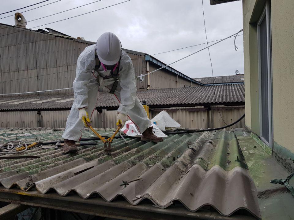 15 번째 사진  에  연면적185.82 ㎡ 부산시 사하구 다대동 공장지붕 석면철거