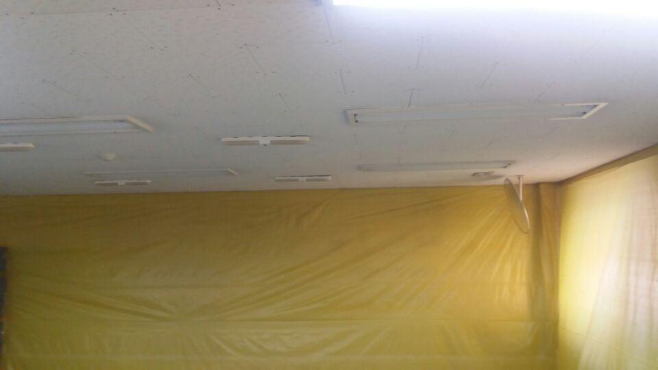 7 번째 사진  에  연면적73.92 ㎡ 대구 동구 상가건물 석면조사 후 천정텍스 석면처리 완료보고서