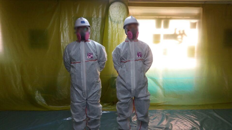 10 번째 사진  에  연면적73.92 ㎡ 대구 동구 상가건물 석면조사 후 천정텍스 석면처리 완료보고서