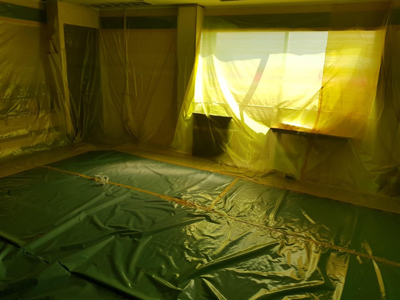 5 번째 사진  에  연면적117.23 ㎡ 충북 청주시 흥덕구 관문주유소 천장텍스 석면해체