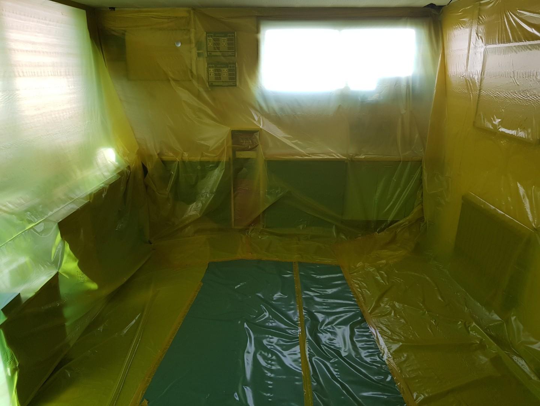 6 번째 사진  에  연면적117.23 ㎡ 충북 청주시 흥덕구 관문주유소 천장텍스 석면해체