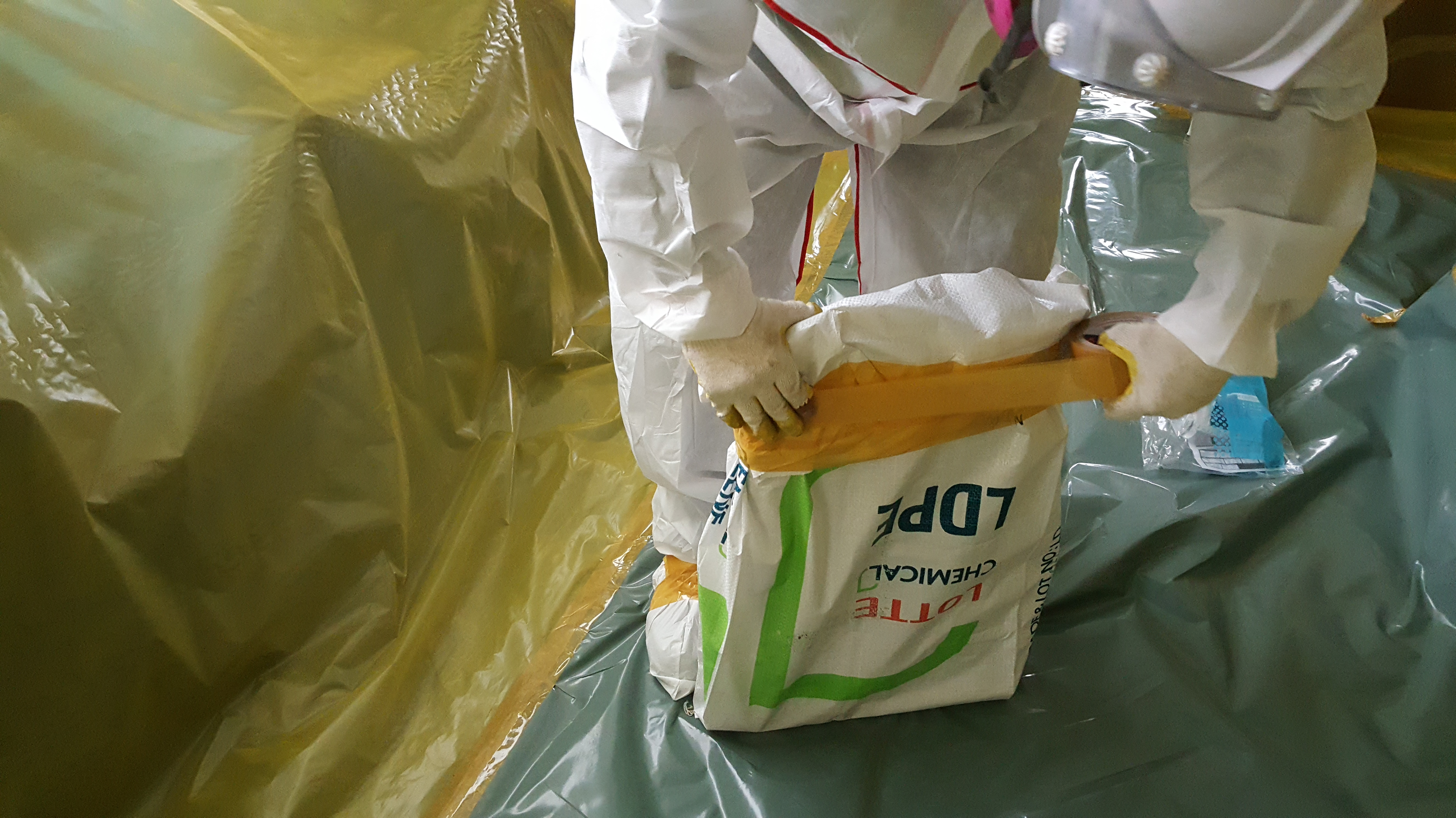 15 번째 사진  에  연면적94.68 ㎡ 부산시 영도구 해양로 공장사무실 2차 천장텍스 석면해체 제거