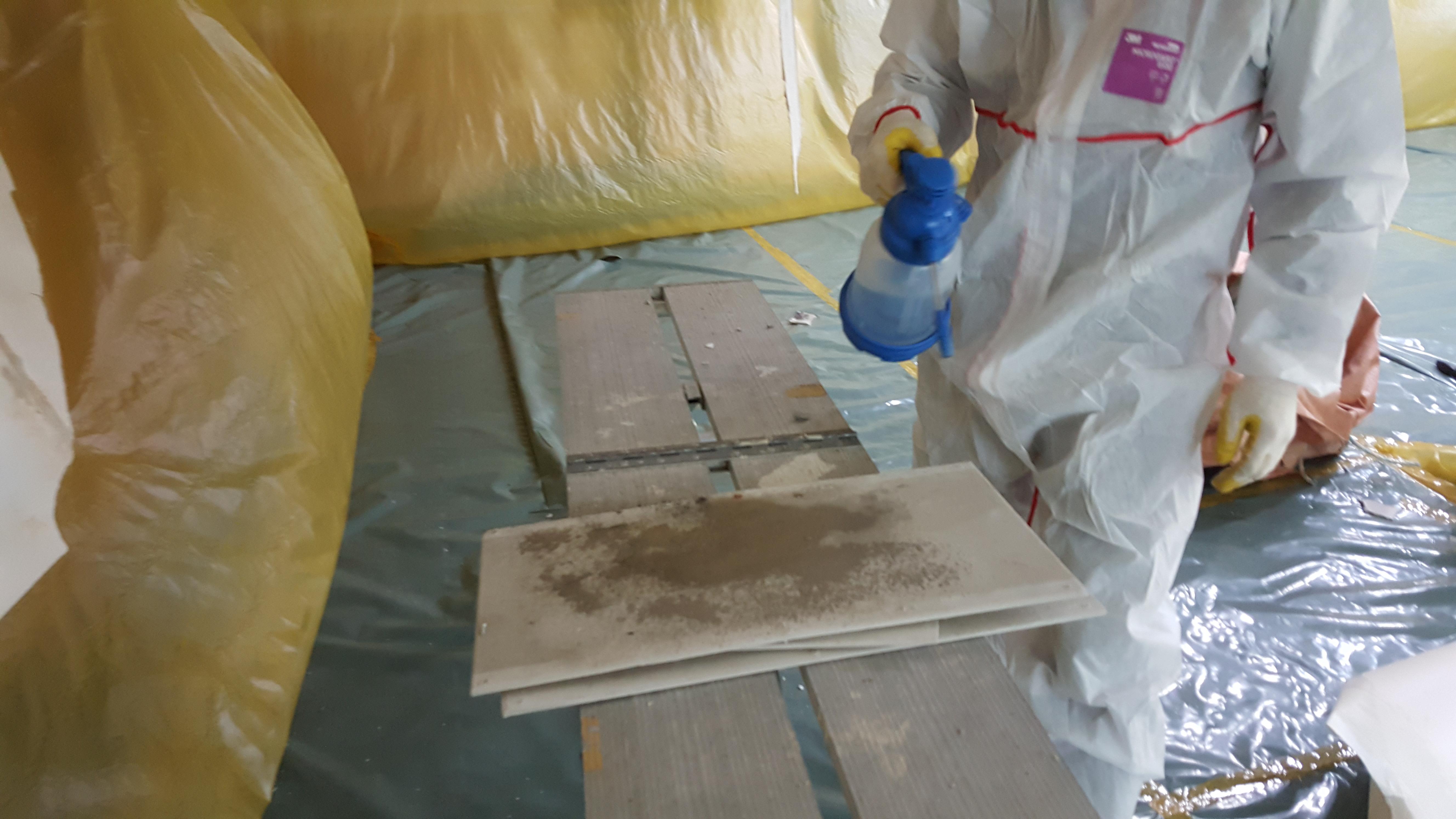 13 번째 사진  에  연면적91.23 ㎡ 동래칼국수 텍스 석면해체 제거공사