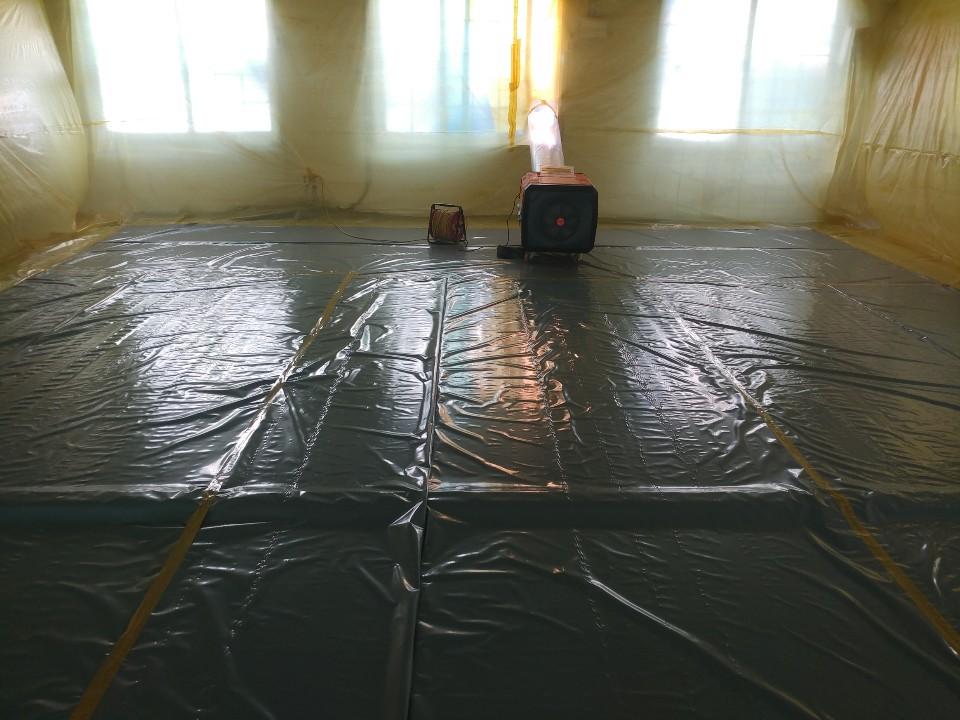 11 번째 사진  에  연면적258.82 ㎡ 대구시 북구 분도유치원 천장재 텍스 석면철거 현장 보고서