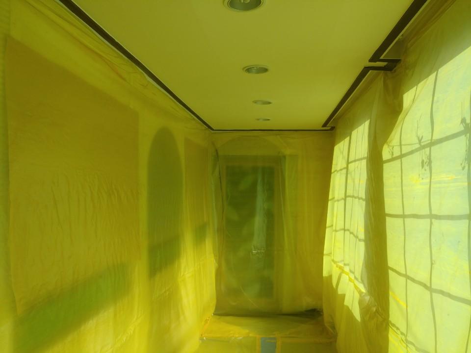 6 번째 사진  에  연면적258.82 ㎡ 대구시 북구 분도유치원 천장재 텍스 석면철거 현장 보고서