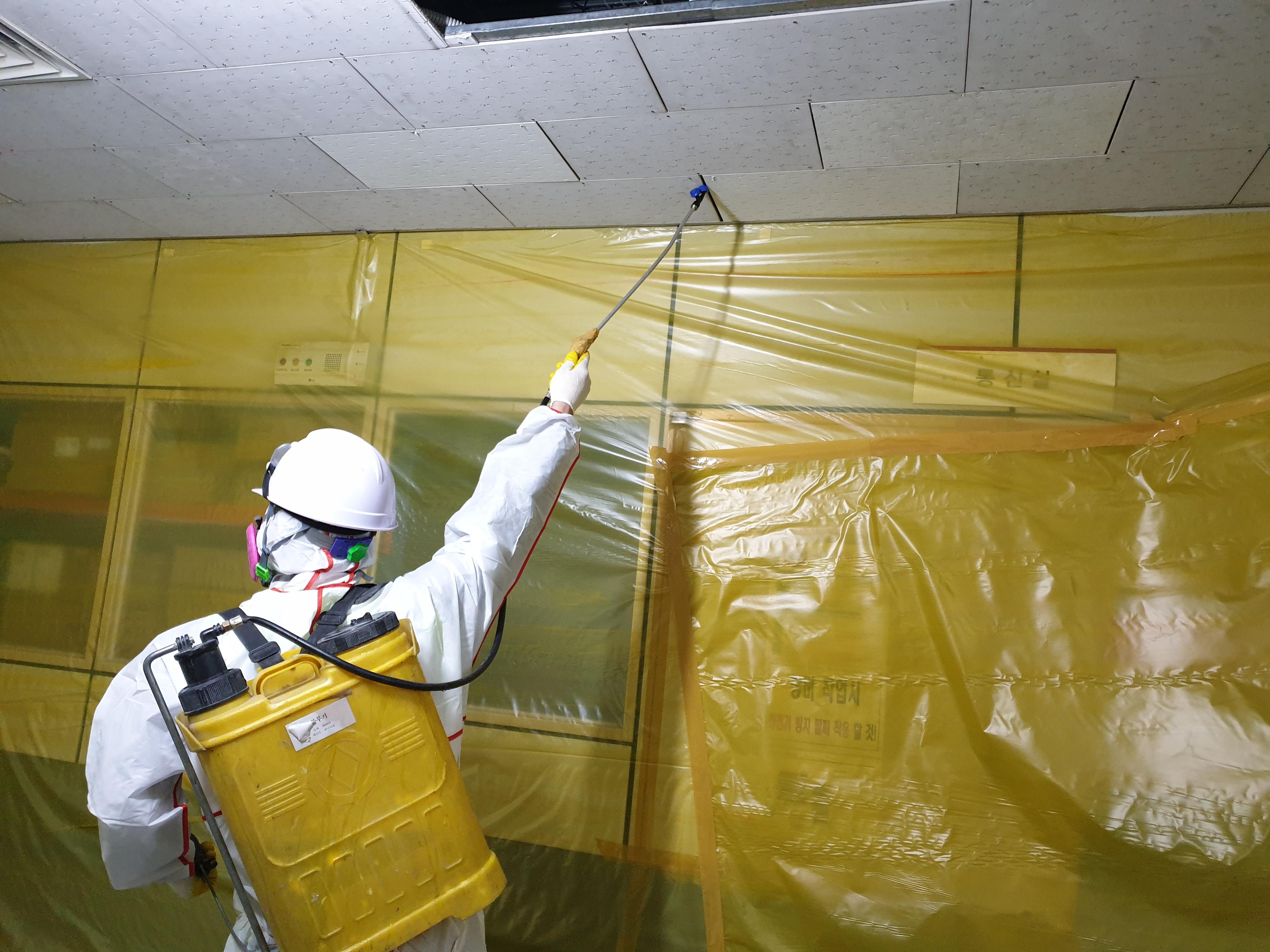12 번째 사진  에  연면적125.09 ㎡ 창원 리모델링 공사전 텍스 석면해체 제거 현장보고서