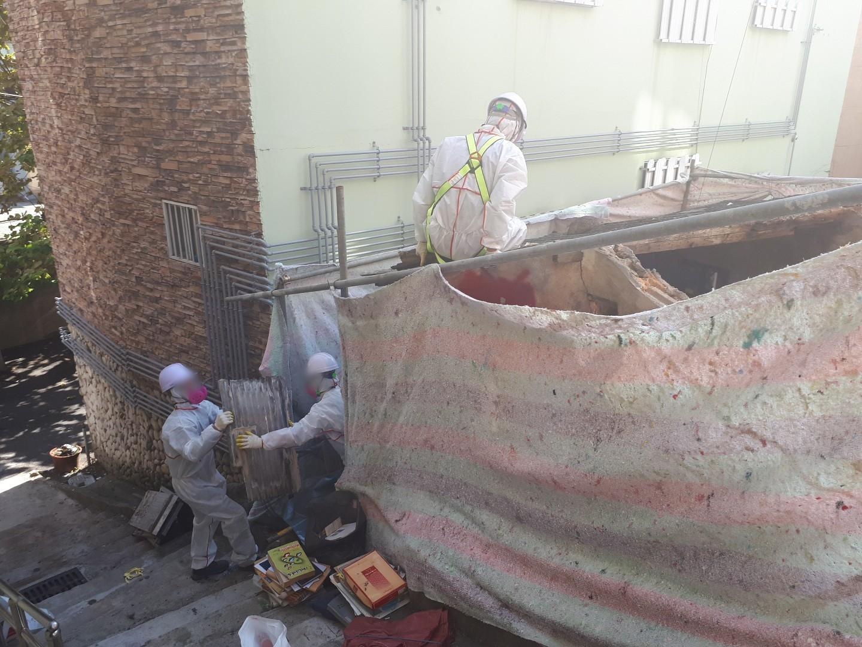 11 번째 사진  에  연면적43 ㎡ 부산 부산진구 진남로 주택 슬레이트지붕 석면철거
