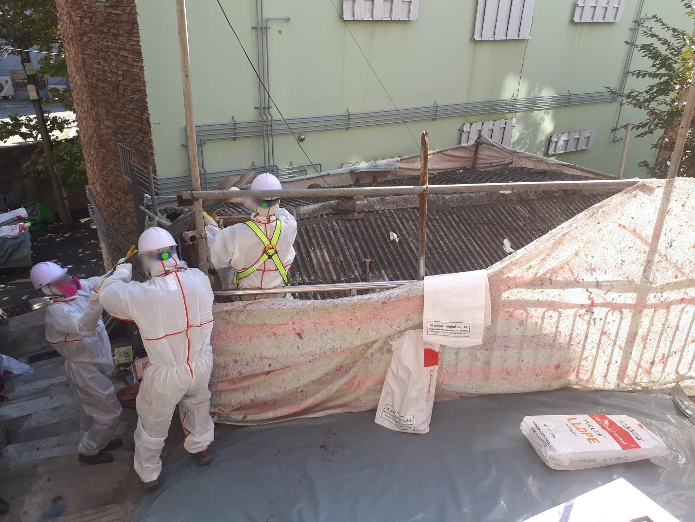 13 번째 사진  에  연면적43 ㎡ 부산 부산진구 진남로 주택 슬레이트지붕 석면철거