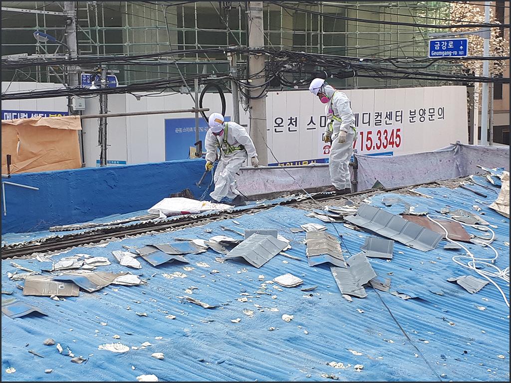 9 번째 사진  에  연면적124.65 ㎡ 서울 동대문구 석면 슬레이트철거/해체 리뷰