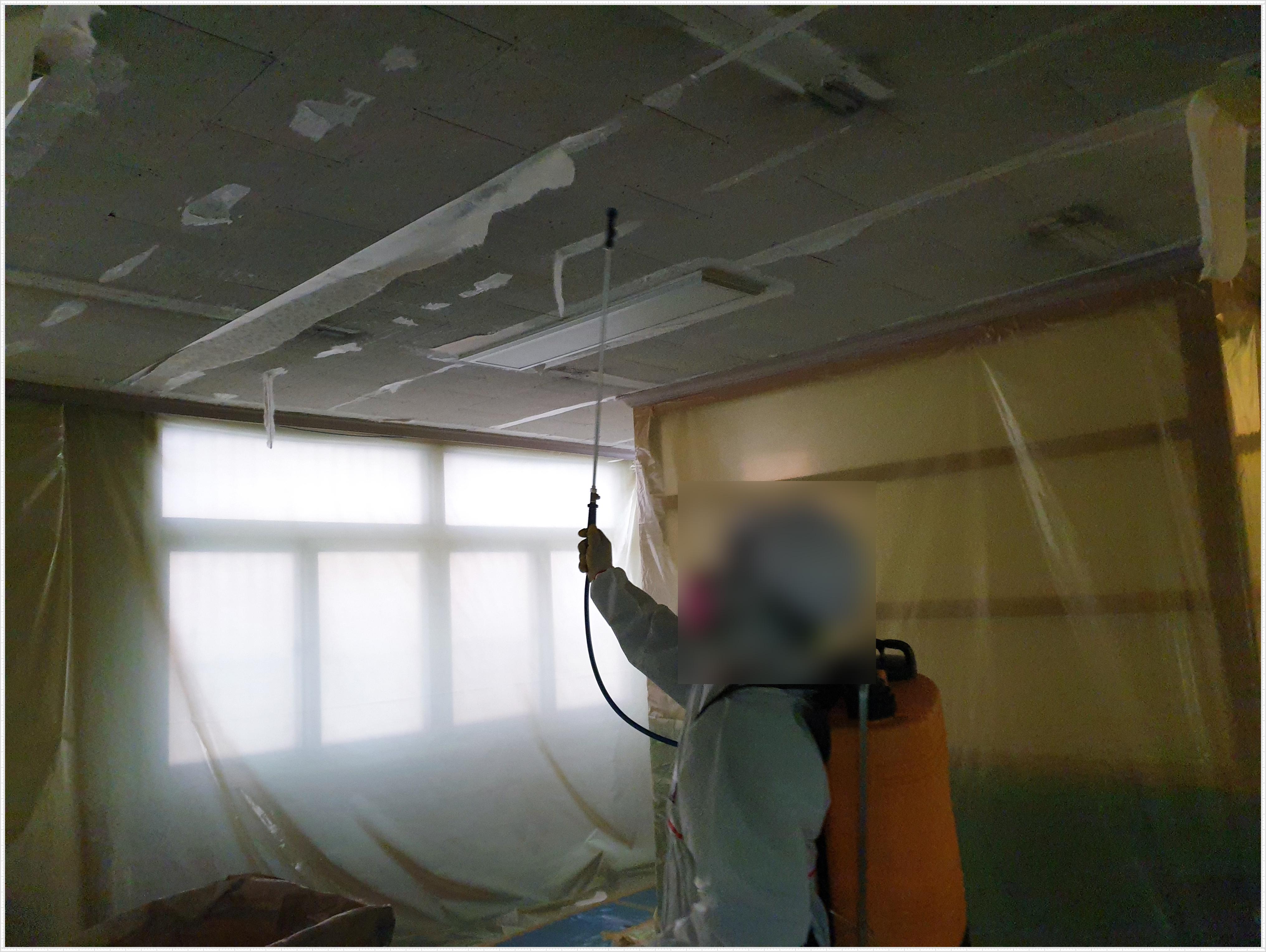 19 번째 사진  에  연면적 ㎡ 사상구 덕포 2동 주민센터 석면 해체 작업현장