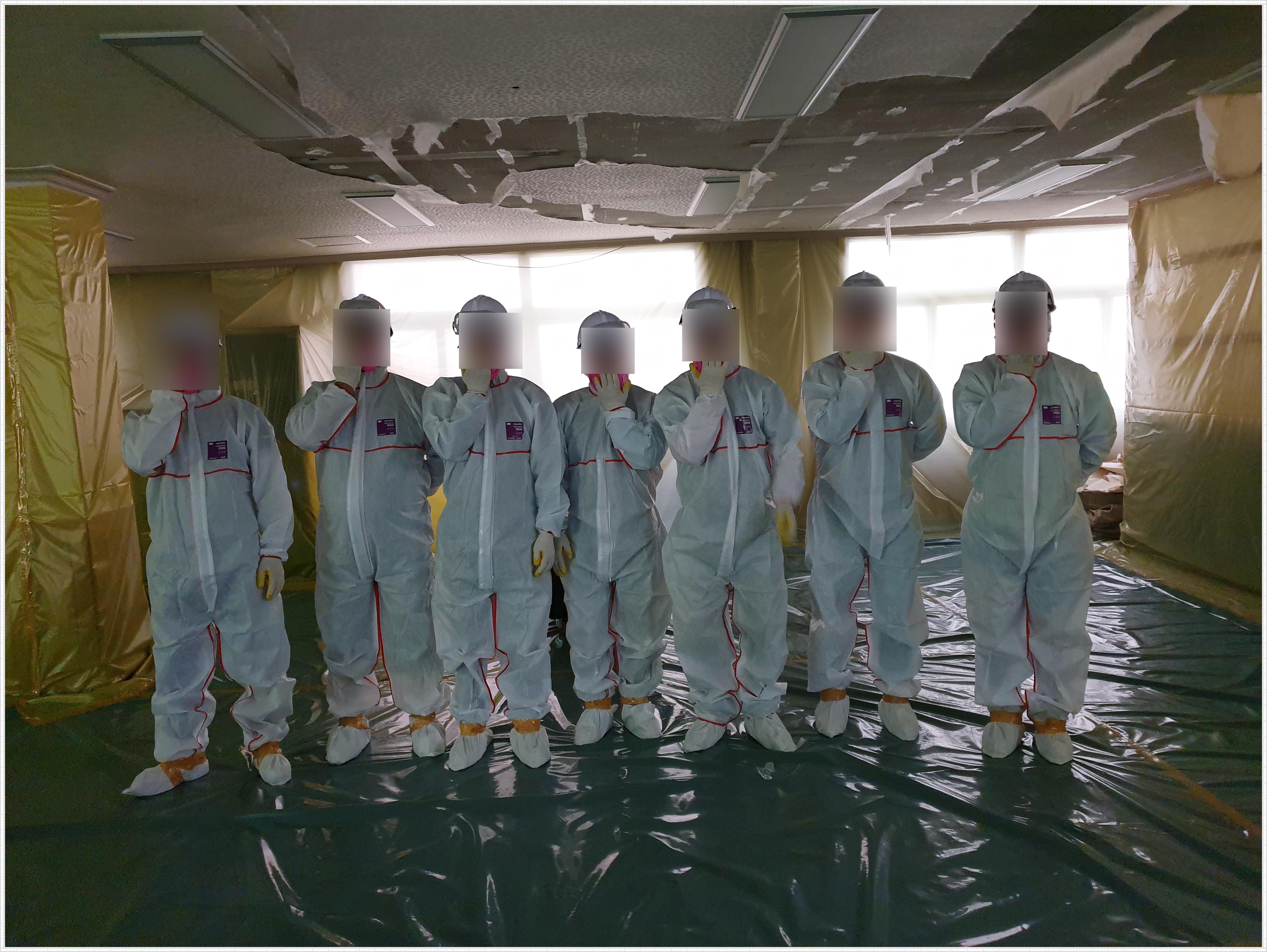 3 번째 사진  에  연면적 ㎡ 사상구 덕포 2동 주민센터 석면 해체 작업현장
