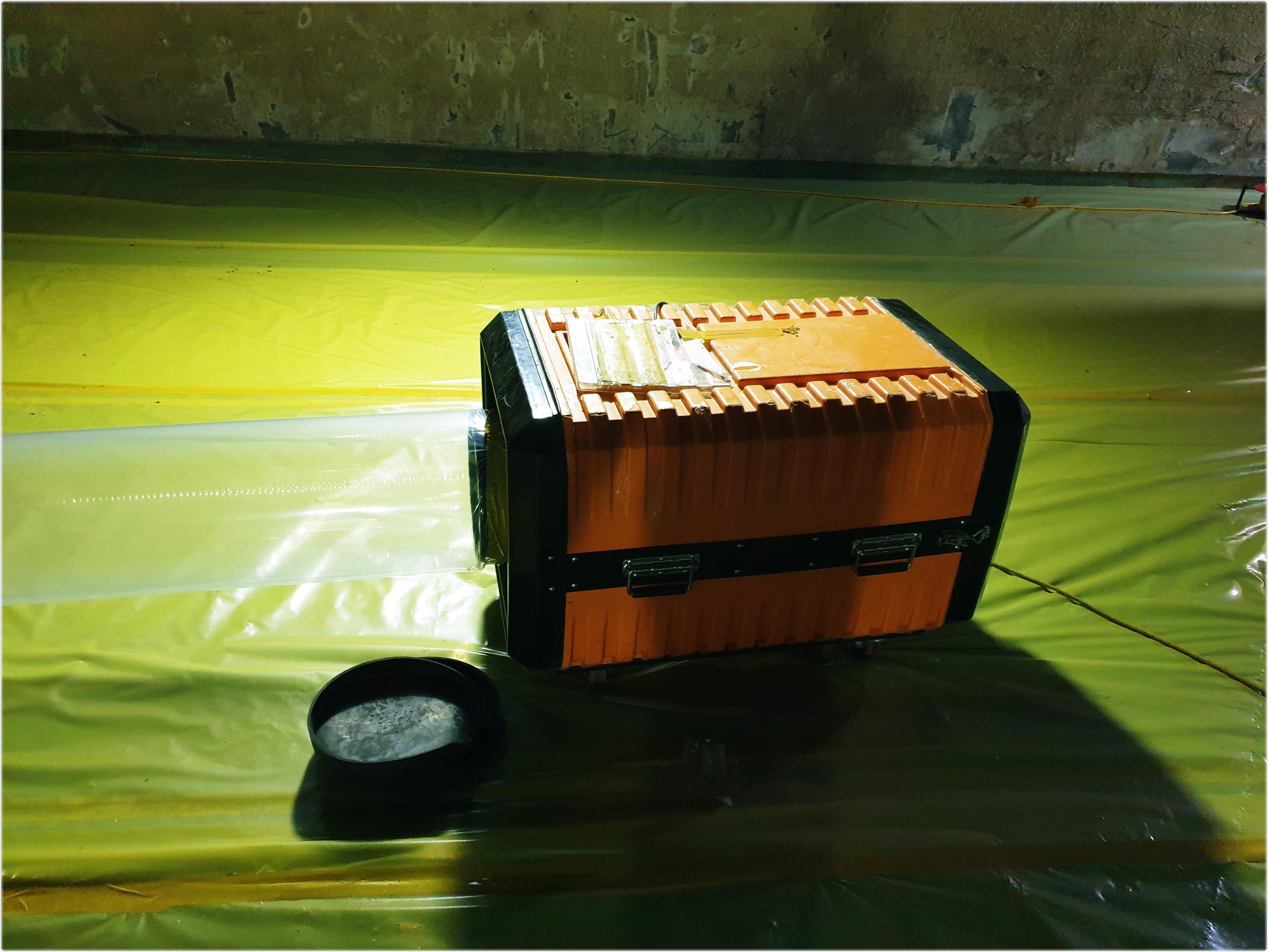 5 번째 사진  에  연면적 ㎡ 뿜칠 석면 해체작업 현장 (서울) 세번째 보양작업