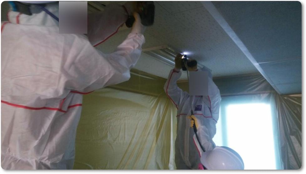 15 번째 사진  에  연면적 ㎡ 중학교 천장 석면 해체 현장 (경기도 수원시)