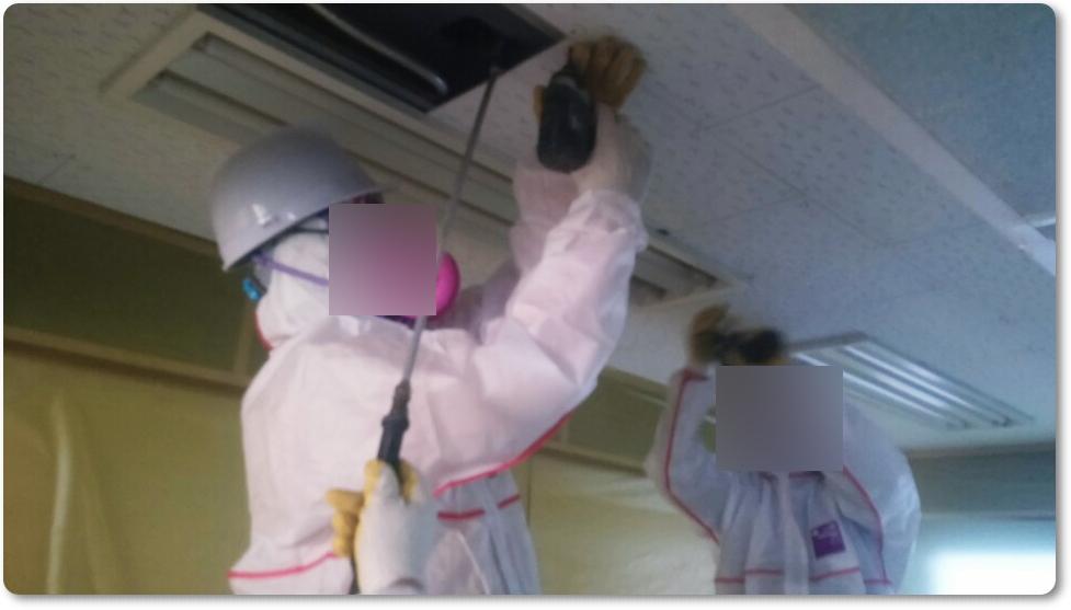 18 번째 사진  에  연면적 ㎡ 중학교 천장 석면 해체 현장 (경기도 수원시)