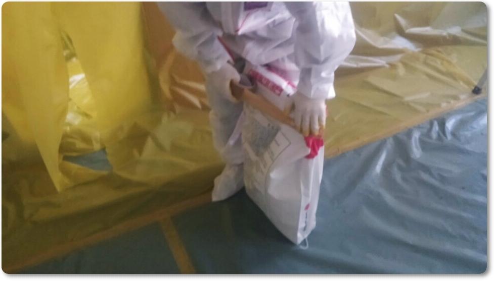 22 번째 사진  에  연면적 ㎡ 중학교 천장 석면 해체 현장 (경기도 수원시)